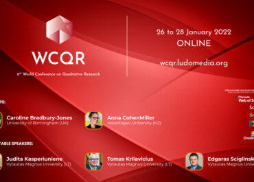 WCQR2022 // Call for Abstracts - Deadline Extension